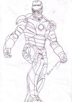 Ironman ruff sketch by Tipster360