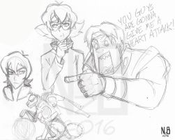 Voltron: Legendary Defender sketches by ConstantScribbles