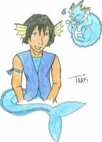 Taakers the Vaporeon hybrid. by Vulbreeon