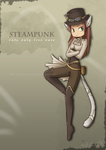 Steampunk Cat by H-Chan-Works