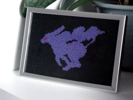 Cross stitch Crystal Suicune by Miloceane