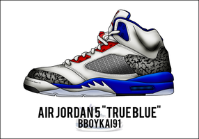 Air Jordan 5 'True Blue' by BBoyKai91