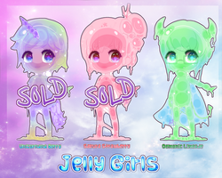 Jelly Girl Adoptables [CLOSED] by HoneyDoodles