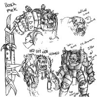 Ork Sketches by Taytonclait