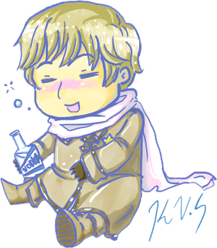 Chibi Drunk Russia by gohe1090