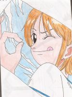 One piece - nami - wanted - color by kitty-moonlight