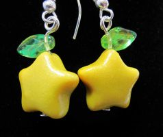 Paupu Fruit earrings by carmendee