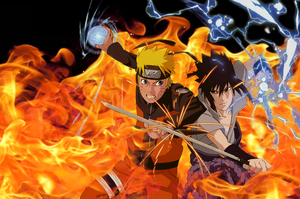 Naruto and Sasuke - Clashing Wills of Fire by MSU82
