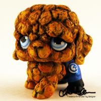 The Thing custom Littlest Pet Shop by thatg33kgirl
