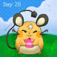 Day 20 - Favorite Electric Rodent by Mikoto-chan