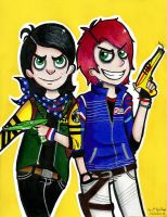fun ghoul and party poison by YuriBeltran