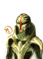 More Turian fan-art by Rain-tear