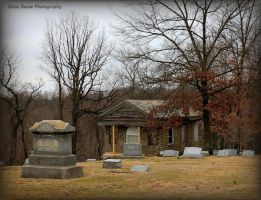 Chapel with Lucas Headstone by GlassHouse-1