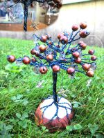 Brown 'fruit' tree UPDATE With bird charms by HollieBollie