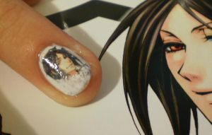 Black Butler nail art by Lady-Eilnys