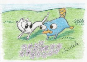 Philo and Percy - Playful Run by Josabella