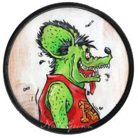 Rat Fink by oo0shed0oo