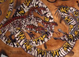 Sulphur and Spark Dragons by Dracanid