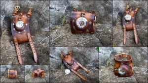 Steampunk Wristwatch by DorianPipes
