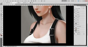 Tifa Lockhart Portrait WIP3 by Accuracy0
