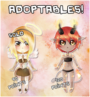 closed - Adoptables - Angel and Devil by miSsSasoRi