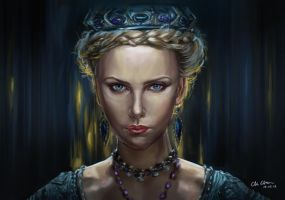 evil queen Ravenna by BlackMonkey-Chi