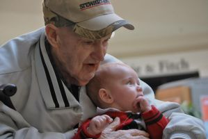 My dad and grand-nephew by SpectralDraconicWolf