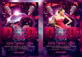 Night Club flyer template by mihaimcm94