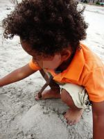 A Boy And His Sand. by diinytt