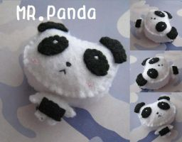 Mr. Panda Plushie by Mechashinobi-X