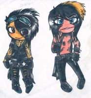 Ashley and Andy chibi by EmoFox721