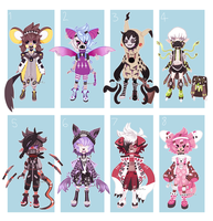 pokemon gijinkas auction by gekkore