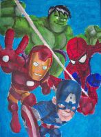 Marvel Super Hero Squad by billywallwork525