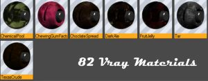 82 Vray Materials (Library) for Cinema 4D by bestm8