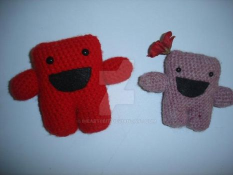 Super Meat Boy and Bandage Girl by iheart8bit
