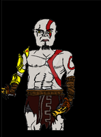God Of War:  Kratos Colored by Trent911