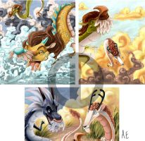 Four Dragon Kings- Previews by Turtle-Arts