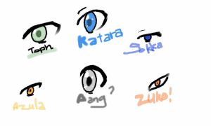 Avatar eyes practice by TOPHROX13