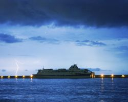 Lightning on the ship 3 by VicK88