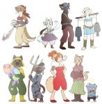 Character designs - Cats by yolin
