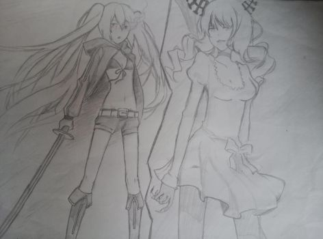 Black Rock Shooter vs The Death Master by LoveCreepypastaGang