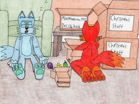 Phoenix and Voltage prepare for Christmas by MilesProwerFan1997