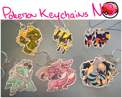 Pokemon Keychains 9 by Dragounette