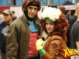 Rogue and Gambit by rankin24