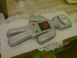 Robot Cake II by AlyceThePirate