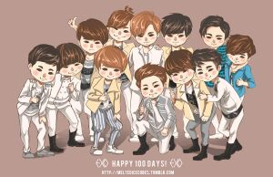 EXO 100 Days! by korilin