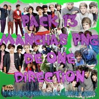 Pack 13 manchas png de One Direction by MeelaBosteritaa