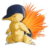 cyndaquil by SplitSoulSister