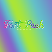 Font Pack by smilergorl00