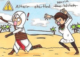 Altair startled Maria by wolfsfussel